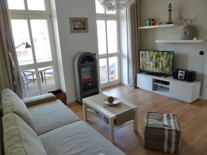 Villa Freya auf Rügen im Ostseebad Sellin - Wohnzimmer