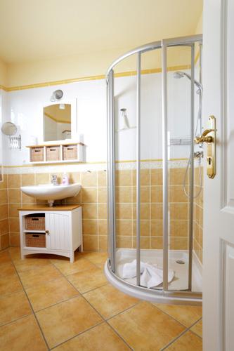 Badezimmer im Haus GodeTied im Ostseebad Sellin auf Rügen
