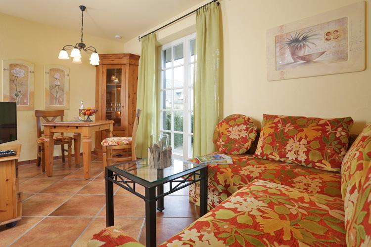 Wohnzimmer im Haus GodeTied im Ostseebad Sellin auf Rügen