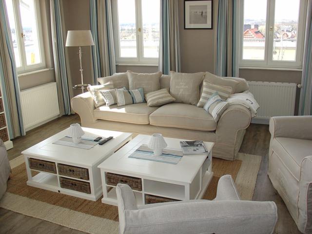 auf Rügen im Ostseebad Sellin - Villa Fernsicht Wohnraum