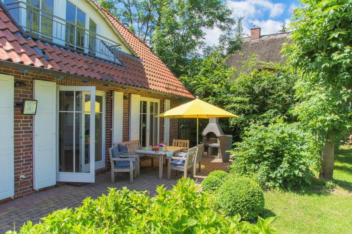 Terrasse von Immobilien & Ferienwohnungen Seewind im Ostseebad Sellin auf der Insel Rügen