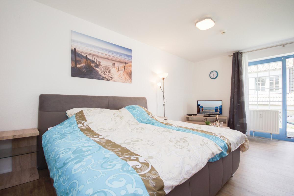 Schlafzimmer Seewind Immobilien & Ferienwohnungen im Ostseebad Sellin auf der Insel Rügen