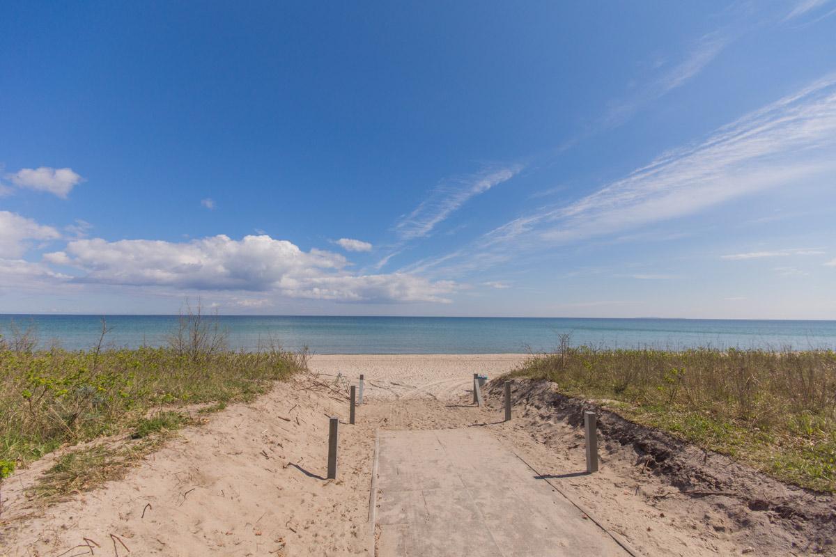 Strandabgang im Ostseebad Sellin auf der Insel Rügen